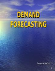 Lesson 2_Demand Forecasting