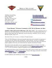 06-07-17- Media Release - Team Miramar Welcomes Community to 2017 MCAS Miramar Air Show.pdf