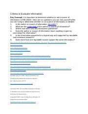 Criteria to Evaluate Information questions .docx