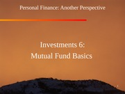 17 Investments 6 - Mutual Fund Basics 2012-03-02