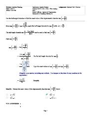 Unit 3 Notes - MyMathLab Practice Problem Walkthroughs_MTH-1130