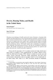 Poverty, Housing Niches, and Health in the United States