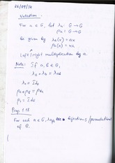 Left and Right Multiplication (lecture notes)
