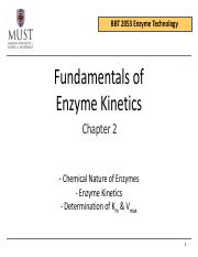 Chapter 2 Fundamentals of Enzyme Kinetics