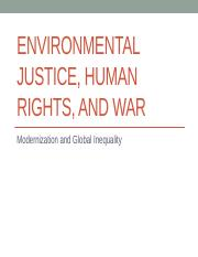 2017_10b_Environmental Justice, Climate Change, and War
