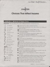 PF Ch 1-1 Choices That Affect Income