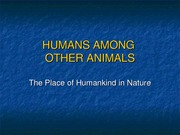 Humans Among Other Animals class ppt