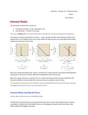 Monetary Policy worksheet - Chapter 34