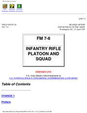 FM-7-8 Infantry Rifle Platoon and Squad