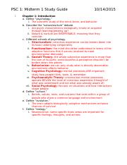 PSC 1 Study Guide - Ch. 1-5