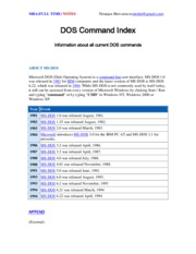 DOS Command Notes