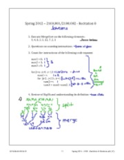 "Spring 2012 â€"" 2100 - Recitation 8 - Solutions"