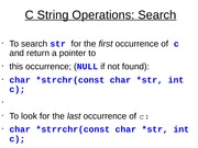 C String Operations