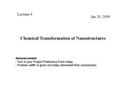 4 Chemical Transformation of Nanostructures