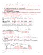 Exam 2 Practice Problems Key