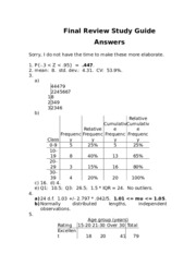 statistics 285 stats for business rutgers university rh coursehero com 7th Grade Final Exam Study Guide Biology Final Exam Study Guide