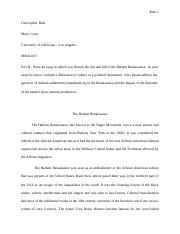 part b harlem renaissance docx rizk christopher rizk  5 pages part b harlem renaissance edited docx