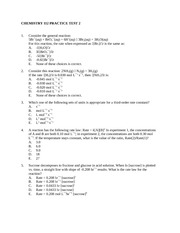 Chm 112 Practice Test 2 Summer 14
