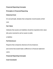 Financial Reporting Concept1