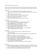 Study Guide for Final Econ130(1)