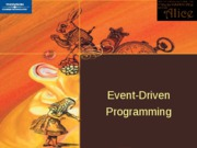 ch 3 Event Driven Programming