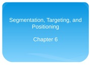 Chapter 6 Segmentation, Targeting, and Positioning
