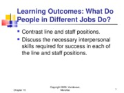Chapter 15 - What Do People In Different Job Do