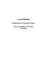 Ross_9e_FCF_case solutions