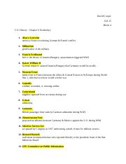 US History Chapter 6 Vocab