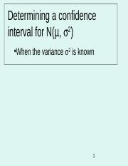 2.1.Confidence Intervals - Variance Known