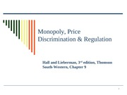 15 Monopoly, Price Discrimination and Regulation
