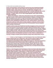 Oralpt31 Docx 2 Usaha Usaha Memartabatkan Bahasa Melayu Usaha Memartabatkan Bahasa Malaysia Sebenarnya Amat Bergantung Kepada Kesedaran Hakiki Dalam Course Hero