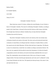 Christopher Columbus Essay