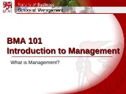 Week 1 student slides - What is Management0