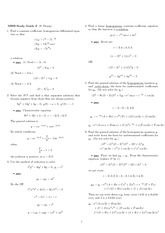 Exam 2 Study Guide Solution Winter 2008 on Ordinary Differential Equations