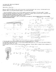 Exam 2 Solution Spring 2010 on Mechanics of Materials