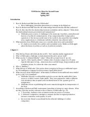 S339 Review Sheet for Second Exam WikiLeaks.docx