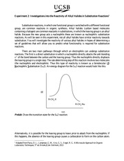 Substitution Experiment