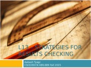 L13__STRATEGIES_FOR_RESULTS_CHECKING
