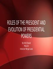 Roles of The President and Evolution of Presidential (1).pptx