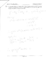 Midterm Exam 2 Version 2 Solution