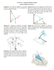 CVEN2121 Exam1 Practice Problems