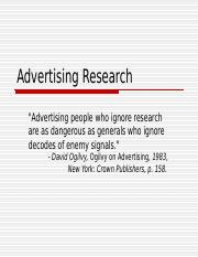 Advertising Research Intro