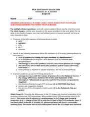 Exam 3 Summer 06 Key MCB181R Dr. Jorstad