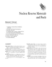 Nuclear Reactor Materials and Fuels