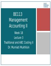Traditional Costing and ABC Costing II Lecture 20162017.pptx