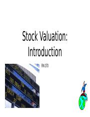 FIN370 Lecture 3_Stock Valuation_Introduction