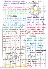 Nautical Miles and Spherical Trig Exam Revision Notes