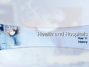 Health and Hospitals