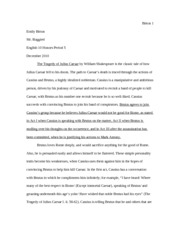 julius caesar documents course hero julius caesar essay